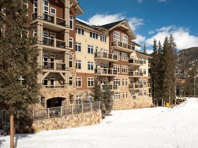 Photo for Premier Ski-in/Ski-out Condo + Stone Fireplace | Your Next Ski Vacation Starts Here!