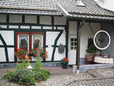 Photo for Protected behind an ancient beech hedge is our 4 * Ferienhaus-Vennblick