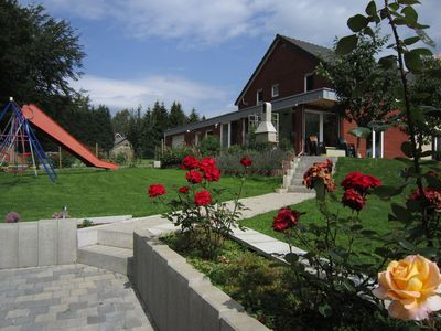 Photo for Comfortable villa with sauna, located near the lake of Robertville