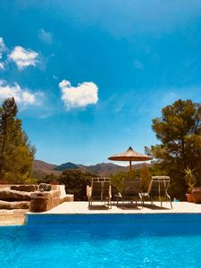 Photo for Rustic finca / villa Lliber, pool and great views, rural located