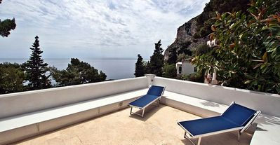 Photo for Villa Elena- 3bd hillside villa on Capri with oceanviews