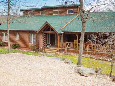 Photo for 6500 sq ft magnificent log cabin.