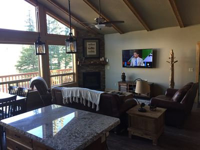 """Great room with 60"""" HDTV"""