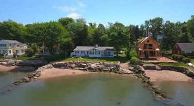 Photo for Beachfront Getaway ~ Private Beach ~ Gorgeous Water Views