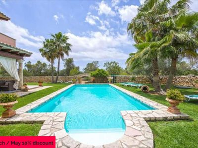 Photo for CAMI S'ESTANYOL- Rustic villa with large pool and 15,000m2 of land. 6 Bedrooms 12 people- 68719-. - Free Wifi | Offer | 10% | 01/03 - 31/05