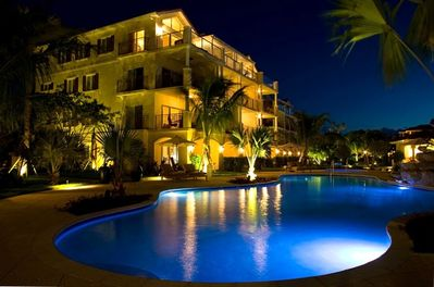 View of Unit over Pool #1 - Night time