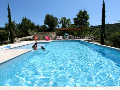 Photo for Countryhouse, with pool and garden, ideal for families, 15min from the beach