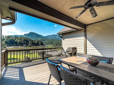 Photo for Upscale townhome across from Lake Lure Beach & one mile from Chimney Rock