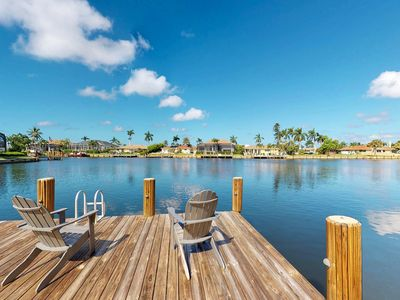 Photo for Waterfront home w/dock & private pool - free kayak & bikes!