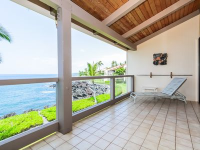 Photo for Oceanfront condo with private lanai, full kitchen, walking distance to beach- Family friendly!