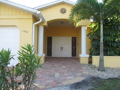 Photo for wonderful pool villa on salt water canal with access to the Gulf of Mexico