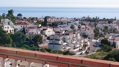 Photo for Nerja: beautiful and magnificent sea views, Pueblo, A / C. Wifi and priv pool
