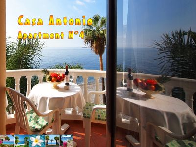 Photo for Beachfront Apartment with stunning ocean view in a peaceful idyllic bay