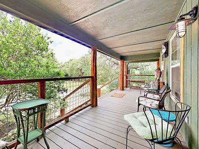 Porch - Welcome to Austin! Take in 360-degree views of the natural surroundings from the porch.