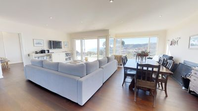 Stylish living, dining areas with fabulous views.