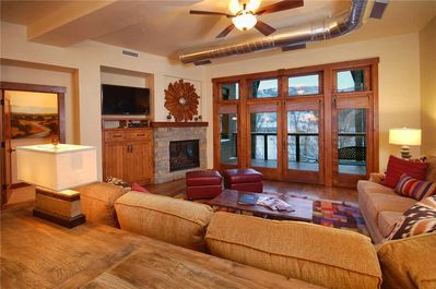 Gas Fireplace and Covered Deck