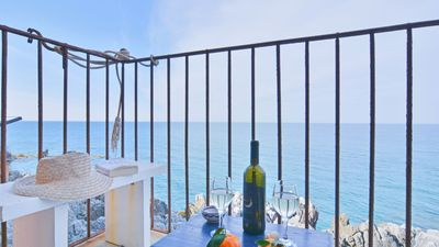 Photo for Panoramic apartment in the historic centre of Cefalu overlooking the sea