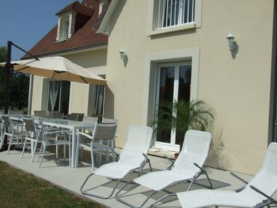 Photo for Luxury house 10-12pers. Normandy coast, sea 10 minutes, 2 hours Paris, countryside, sauna,