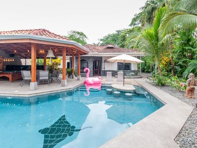 Photo for Elegant Three-Bedroom  with Large BBQ Patio and Pool Table in Playa Potrero