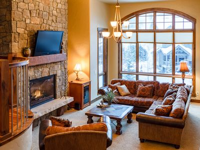 Photo for Luxury Slopeside Townhome | Huge Hot Tub & Private Deck | Two Separate Living Areas