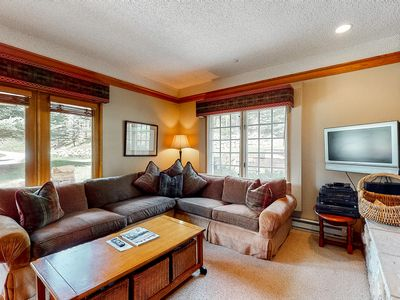 Photo for Ground floor charming escape w/ shared pool, wood-burning fireplace,
