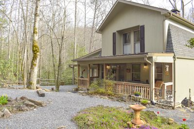 Front of cabin-Early Spring