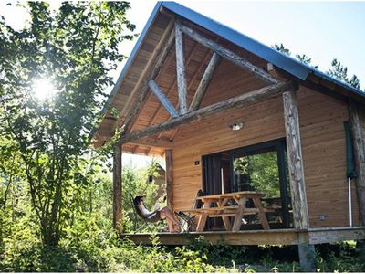 Photo for Camping Huttopia Lanmary *** - 3 Rooms Cabin 6 People