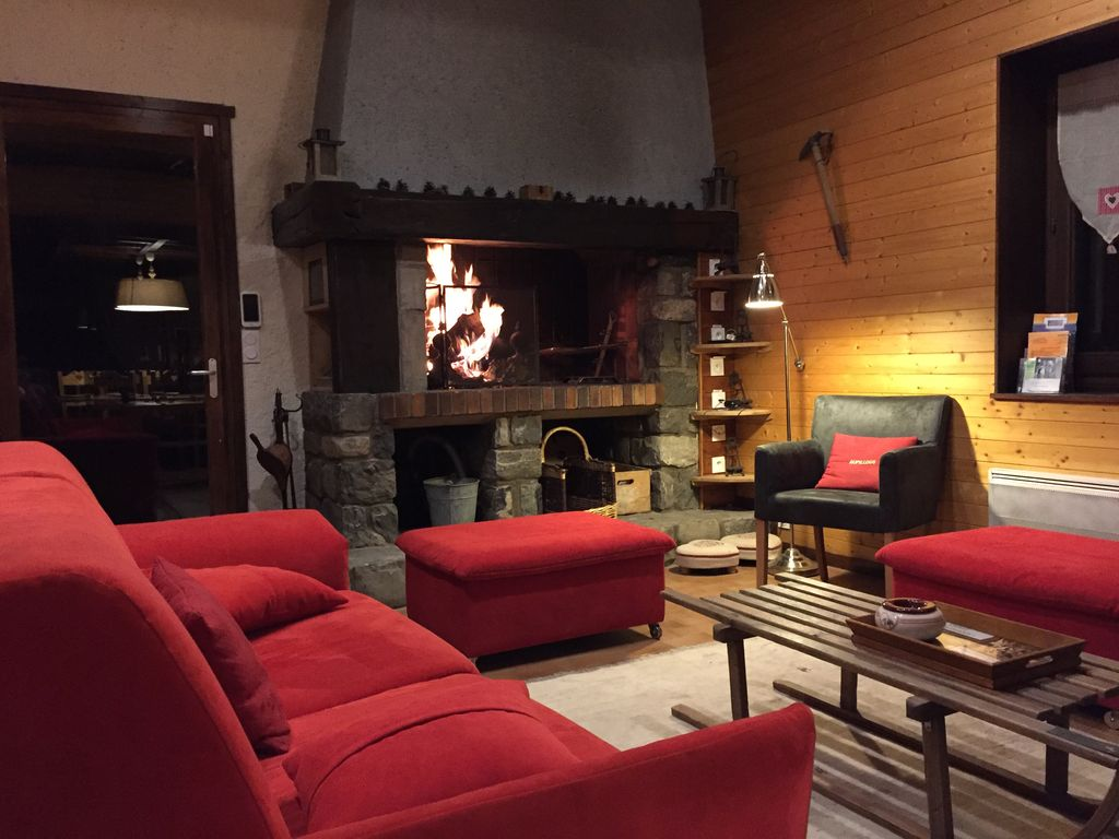 Salon Du Chalet Bois cozy chalet 8 to 12 pers. on vallouise (renovated from 2012 to 2016) -  vallouise-pelvoux