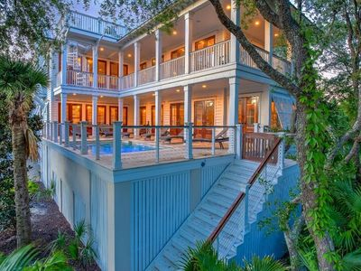 Photo for Summer Breeze on Isle of Palms ~ PRIVATE POOL, OCEAN VIEWS, ELEVATOR!