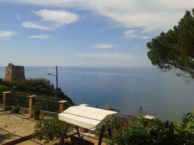 Photo for La casa Blu near Cefalu - Sea Front View Private House in Villa Semi dettached