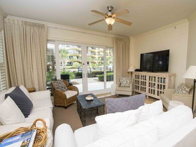Photo for Spacious Ground Floor Condo with Updates Throughout. Views of Pool and Private Beach Access. Beach Service Included