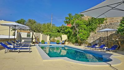Photo for PRholidays Charming 4 bedroom seaview villa with private pool and BBQ area