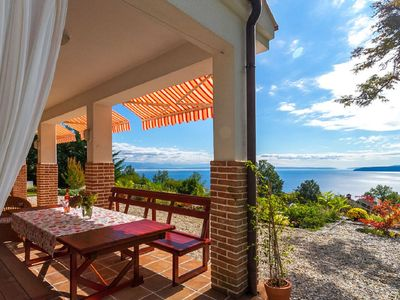 Photo for Splendid three level villa with pool, breathtaking view on the sea, 1500m garden
