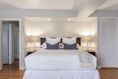 Master Bedroom -King size bed -Smart TV -Attached full bathroom -Walk in closet