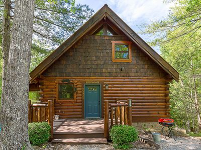 Photo for Nestled Inn: Secluded Cabin in the Mountains with Hot Tub, Fire Pit, and SEGA Ga