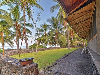 Photo for Kona Oceanfront Captain Cook Beach House!