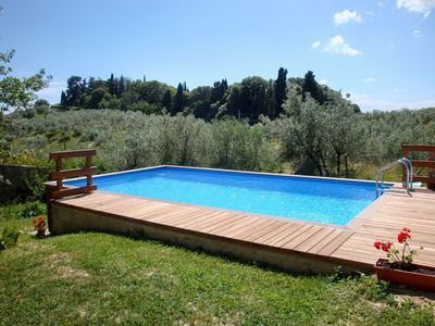Photo for Beautiful apartment for 9 guests with private pool, TV, balcony, pets allowed and parking