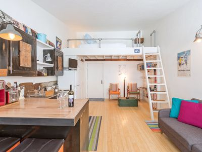 Photo for The Mountains Are Calling! Cute, Convenient Loft-Style Studio.