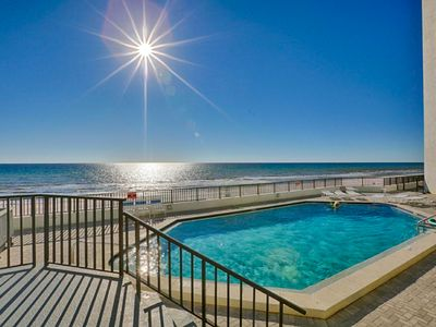 Photo for Gorgeous waterfront condo w/ a shared pool, pool spa, & easy beach access