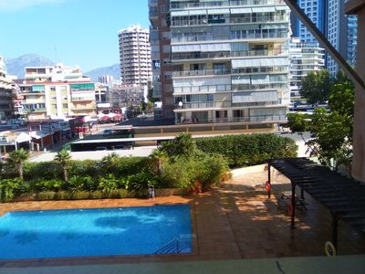 Photo for Luxury apartment on first line beach Levante with air conditioning