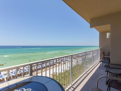 Photo for Gulf-front master on the 2nd floor! No elevators needed from garage walkover!