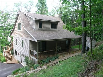 Photo for Black Bear Run - Spectacular mountain cottage offers comfort and seclusion.