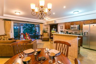 dining table can extend to sit a larger number of guests