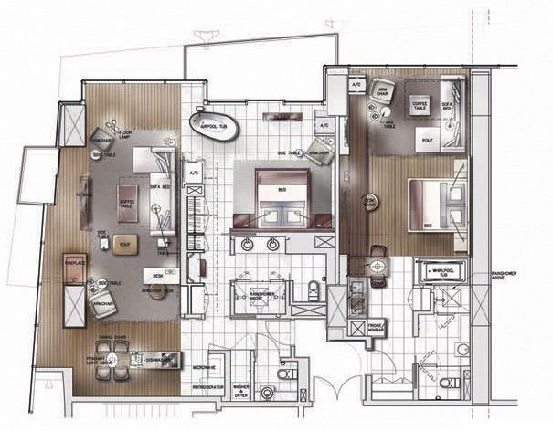 Floor Plan 2 Bedroom, 2.5 Bathrooms 1,865 Square Feet Nice Look