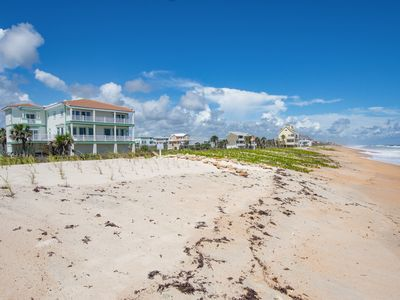 Home - This oceanfront home is just steps from the sand and surf.