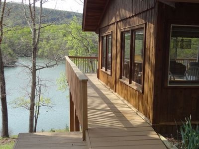 Photo for Cabin#3  Smith Mtn Lake.  Views/Waterfront/Pet Free/No wake cove/Dock