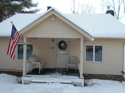 Photo for COMFORTABLE YEAR ROUND  LAKE FRONT HOME - CLOSE TO SCHROON LAKE VILLAGE