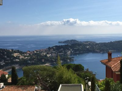 Photo for 3 bedroom apartment with garden of 500 meters, with breathtaking views of the bay of Villefranche