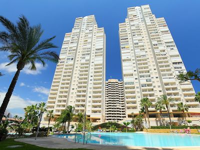 "Photo for Apartment a short walk away (480 m) from the ""Playa de Levante"" in Benidorm with Internet, Pool, Lift, Parking (457137)"