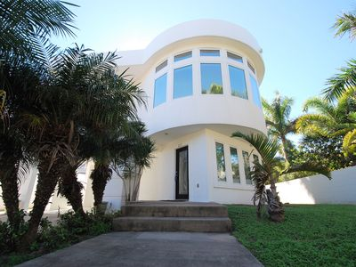 Photo for Contemporary Home in Private Tropical setting on South Padre Island